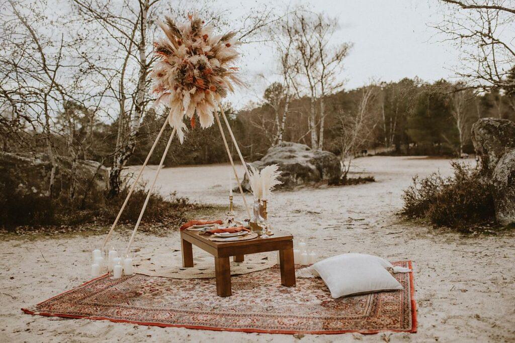 table escapade amoureuse écoresponsable