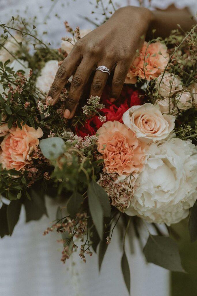 Bouquet - Mariage écologique shooting d'inspiration