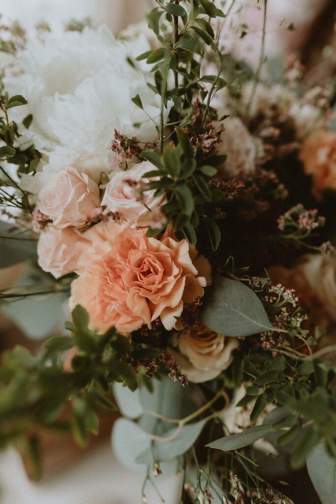 bouquet Mariage écologique shooting d'inspiration