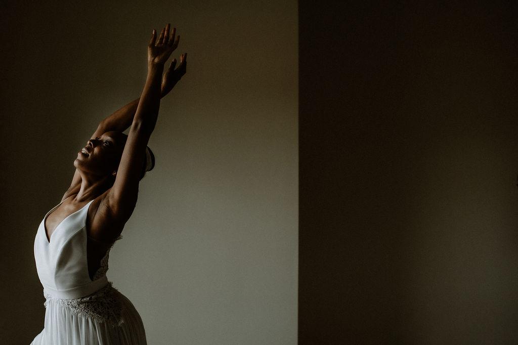 Mariée danseuse, mariage écoresponsable