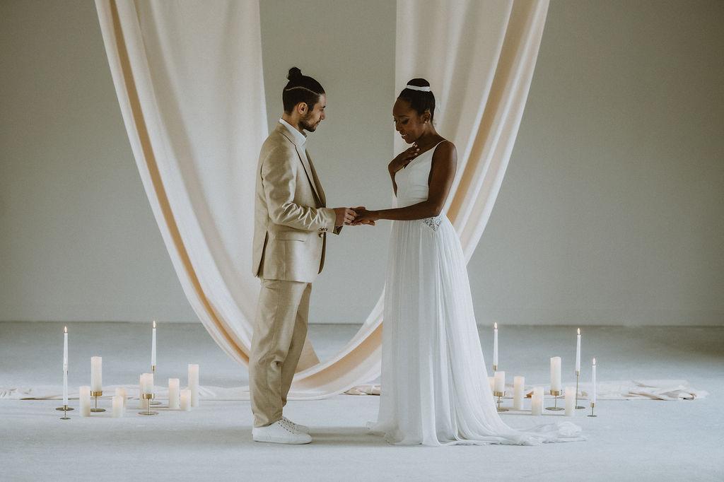 Mariage intimiste et moderne