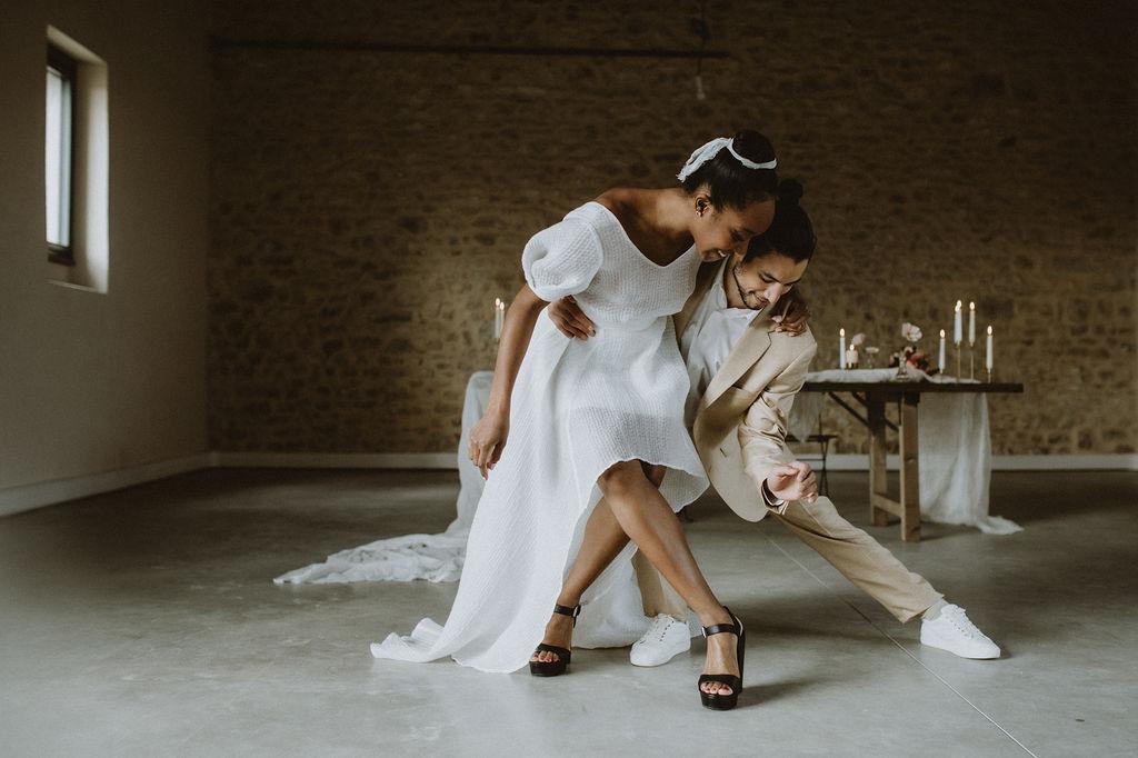 Danseurs, mariage intimiste